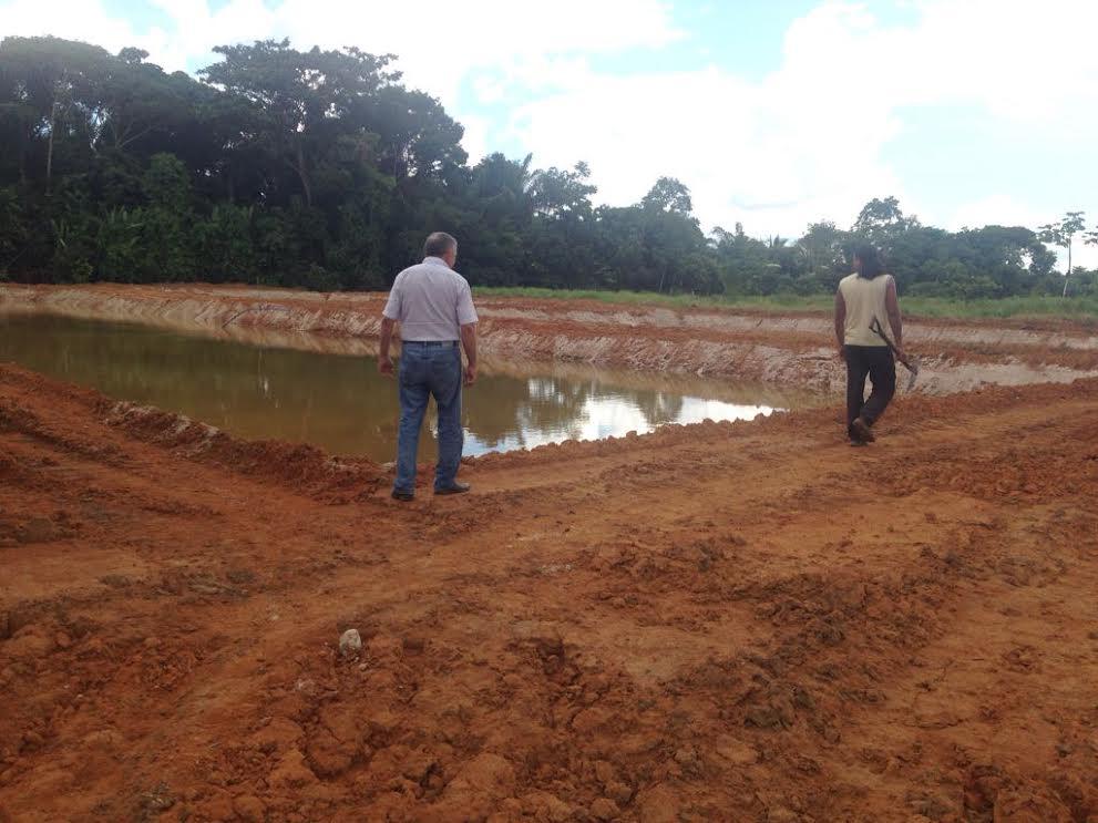 Prefeitura inicia escava o de tanques para produ o de for Que se necesita para criar tilapias